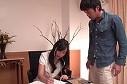 Suzu Ichinose gets her shaved Asian pussy demolished Photo 1