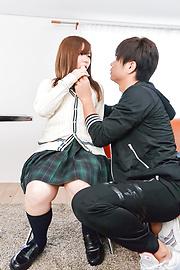 Chihiro Nishikawa - Asian girl blowjob in classroom by Chihiro Nishikawa  - Picture 10