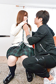 Chihiro Nishikawa - Asian girl blowjob in classroom by Chihiro Nishikawa  - Picture 9