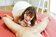 Hitomi Oki gets a big dick to crack her hairy Asian cunt Photo 2
