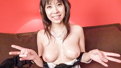 Big titted Hina Tokisaka gives a great japan blowjob