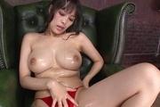 Kyouko Maki big tit asian fucks herself to an orgasm Photo 12