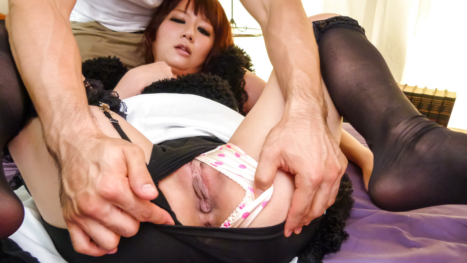 Asian stockings porn with a sleazy Asian maid
