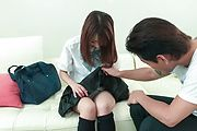 Schoolgirl,Nana Fujii, hard fucked by teacher for better grades  Photo 1