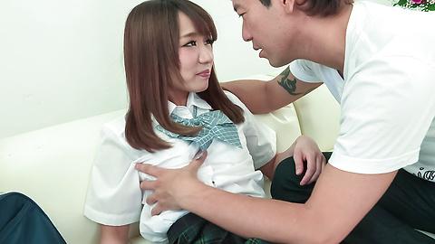 Nana Fujii - Schoolgirl Nana Fujii Asian blow jobs on cam  - Picture 2