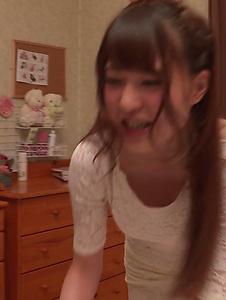 Mai Ogino - Serious Asian blow job by busty amateur, Mai Ogino - Screenshot 12