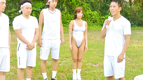 Sara Saijo - Japanese group fuck in outdoor starring Sara Saijo - Picture 10