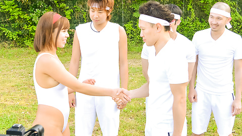 Sara Saijo - Japanese group fuck in outdoor starring Sara Saijo - Picture 1