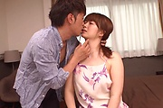 Japanese with big tits, great shag on the couch  Photo 5