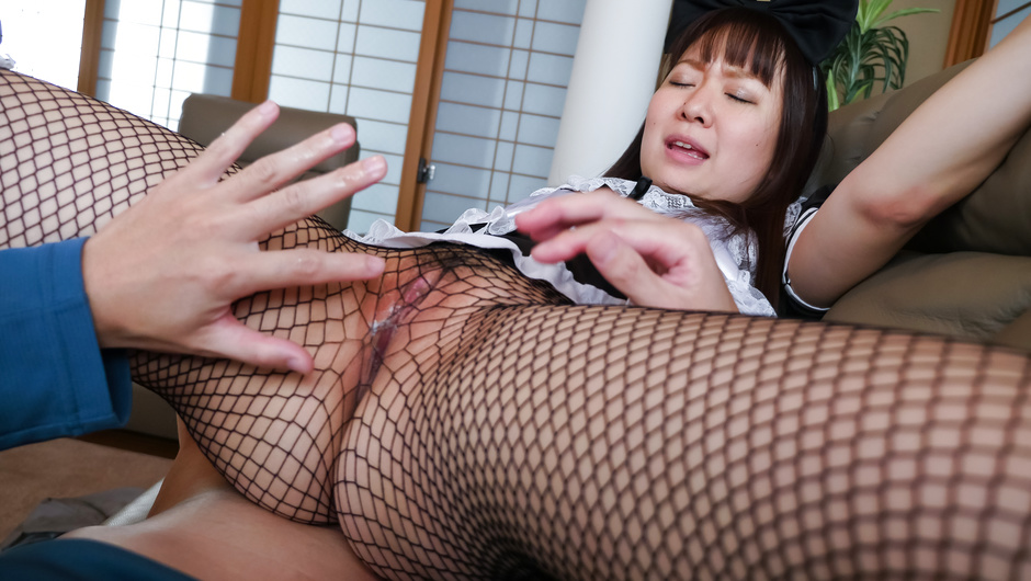 The right POV oral by Sakura Nozomi in home scenes