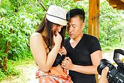 Aroused girl fucking hard in sexy Asian outdoor scenes Photo 1