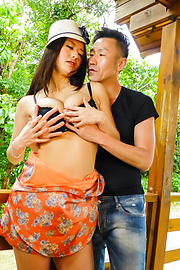 Kaede Niiyama - Asian creampie to end babe's filthy porn show  - Picture 2