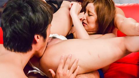 Saya Fujiwara - Saya Fujiwara loves fucking during Japanese threesome - Picture 7