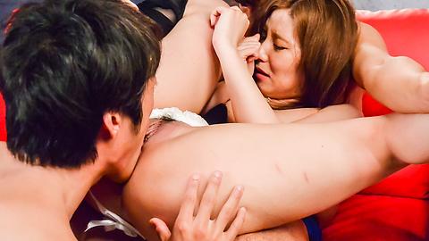 Saya Fujiwara - Saya Fujiwara loves fucking during Japanese threesome - Picture 8