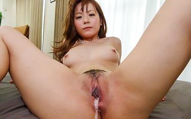 Sexy Anri Sonozaki enjoying two horny males