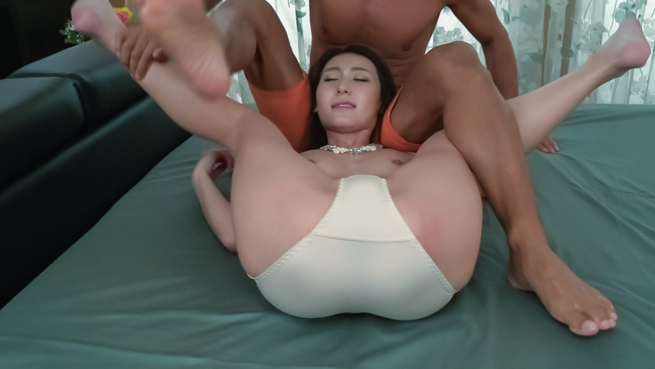Sweet Asian lingerie beauty hard fucked and made to swallow