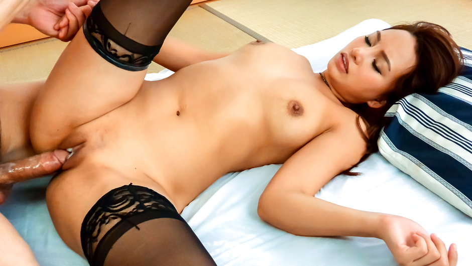 Japanese fuck session along girl in black stockings