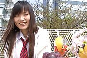 Asian schoolgirl presents herself masturbating  Photo 3