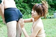 Asuka Ishihara squirting in outdoor fuck scene  Photo 4