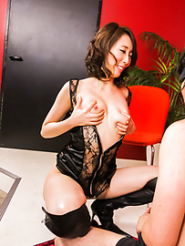 Aya Kisaki - Aya Kisaki hot Japan milf with need for sucking cock  - Picture 2