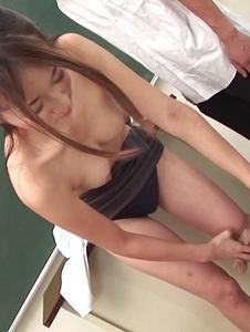 Risa Misaki - Sexy teacher goes nasty in Asian creampie gangbang show - Screenshot 9