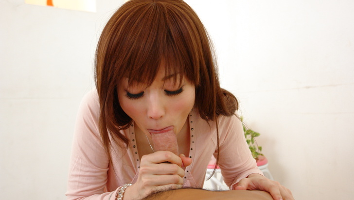 Top POV asian blow job along horny Mizuki