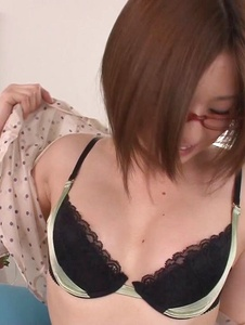 Ruri Haruka - Girl with glasses plays with her warm vag  - Screenshot 4