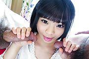 Moka Minaduki pleases with magical Asian blowjob Photo 10