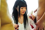 Moka Minaduki pleases with magical Asian blowjob Photo 4