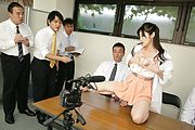 Horny Asian milf teasing some eager males  Photo 12