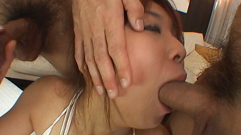Ayumi Haruna - Ayumi Harunas pussy gets poked hard by two poles - Picture 8