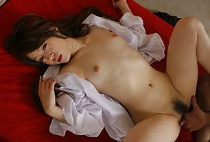 Young and hot Ria Sakurai rides cock like a pro