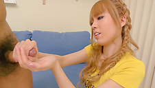 This hot threesome with Mei Haruka will get you jerking off