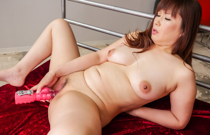Busty Reiko Shimura stimulating her tight vag  nude asian girls, japanese pussy, asian girls nude