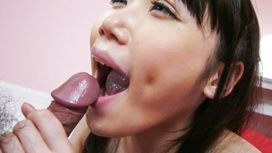 Arousing Asian blowjobalong big titsHonami Uehara