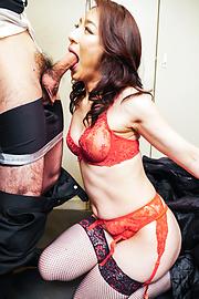 Marina Matsumoto - Marina Matsumotogives warm Asian blow job on cam - Picture 6