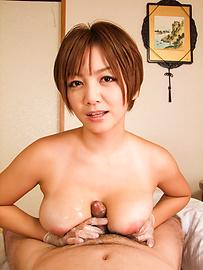 Meguru Kosaka - Meguru Kosaka Uses Her Big MILF Tits To Get Him Off - Picture 11