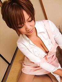 Meguru Kosaka - Meguru Kosaka Uses Her Big MILF Tits To Get Him Off - Picture 6