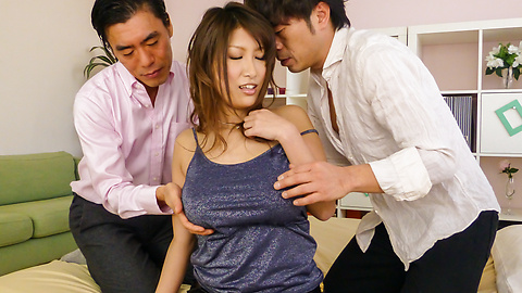 Yume Mizuki - Yume Mizuki enjoys more than one male during top trio  - Picture 1