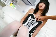 Teen Kotomi Asakura massaged with a vibrator in stockings Photo 5