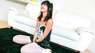 Kotomi Asakura in sexy asian lingerie finger fucked