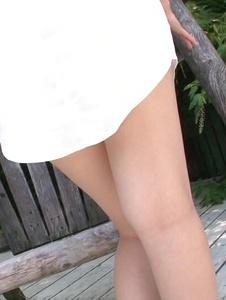 Yuri Sato - Hot asian amateur girls Yuri Sato masturbating outside - Screenshot 1