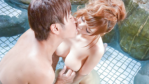 Mikuru Shiina - Big tits Mikuru Shiina provides superb Asian blowjob  - Picture 3