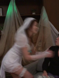 Mona Takei - Mona Takei fucked in her wedding day by a stranger  - Screenshot 1