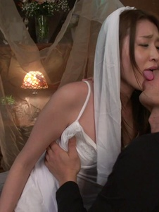 Mona Takei - Mona Takei fucked in her wedding day by a stranger  - Screenshot 7