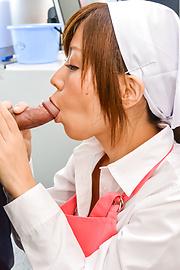 Chihiro Akino - Chihiro Akino amazes with her Asian blow job - Picture 6