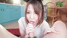 Special Japan blowjob by naughty Sanae Akino