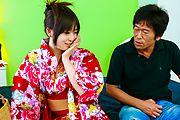 浴衣のAV女優 Fカップ爆乳羽月希 Photo 2
