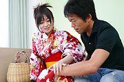 羽月希 - 巨乳和服美女を生ハメ中出し 羽月希 - Picture 3