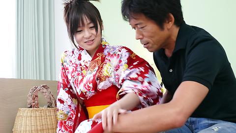 Nozomi Hazuki - Nozomi ซึกิให้งานเป่าและครีมญี่ปุ่น -  3 รูปภาพ